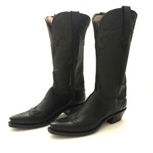 Lucchese Black Ranch Cowgirl Boots